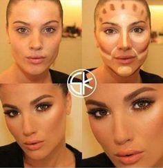 , higlight contour on dark skin