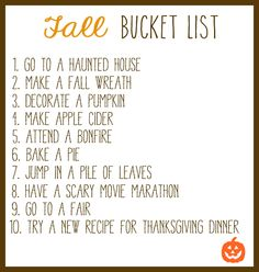 Fall Bucket List- Rainstorms & Love Notes