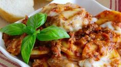 Swap lasagna noodles with ravioli into this slow cooker lasagna recipe for an easy make-ahead dinner on busy weeknights.