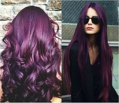 2015 Hairstyles and Hair Color Trends purple-black hair color for 2015 hair color trends purple-black straight hair styles, purple-black wavy hair styles Purple Black Hair, Hair Color Purple, Hair Color For Black Hair, Brown Hair Colors, Funky Hair Colors, Pretty Hair Color, Deep Purple, Amazing Hair Color, Unique Hair Color