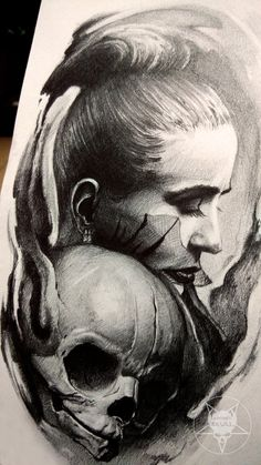 face and skull by AndreySkull.deviantart.com on @DeviantArt