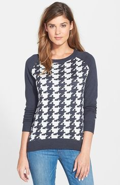 NYDJ Houndstooth Jacquard Sweater available at #Nordstrom