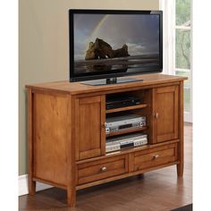Simpli Home AXWSH004 Warm Shaker TV Stand | from hayneedle.com