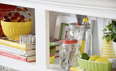 Kitchen Accent Cabinet above the fridge
