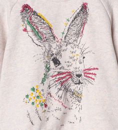 Embroidered rabbit sweatshirt-Sweatshirts-Baby girl   3 months-4 years-KIDS   ZARA United Kingdom