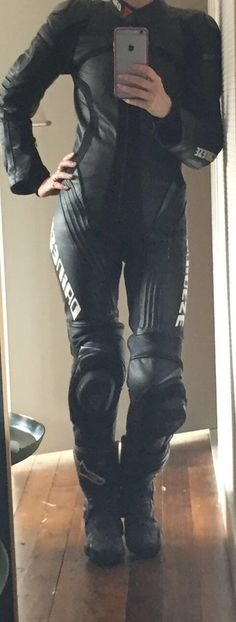 Dainese ladies leather suit + Alpinestar boots
