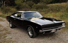 1968 Black Dodge Charger R T