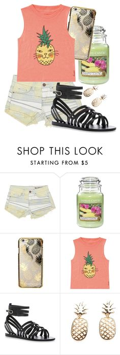 """"" by madison-taylor-73 ❤ liked on Polyvore featuring BLANKNYC, Yankee Candle, Skinnydip, Billabong and Ancient Greek Sandals"