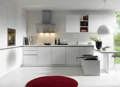 Sometimes a simple look is all you need! German Kitchen, New Kitchen, White Kitchen Cupboards, Kitchen Supplies, New Room, Dining, City, Simple, Table
