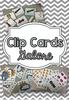 Learn with you Craft Stash: Clip Cards Galore!