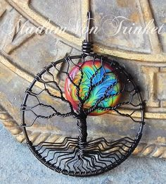 Hey, I found this really awesome Etsy listing at https://www.etsy.com/listing/225233437/black-wire-wrapped-mood-tree-of-life