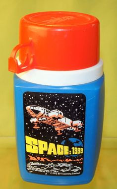 1975 VINTAGE SPACE:1999 THERMOS FOR LUNCHBOX...WITH LID