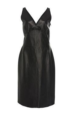 Sleeveless Leather Midi Dress by LOEWE Now Available on Moda Operandi
