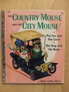 I remember my Mom reading this book to me when I was little. -Country Mouse & City Mouse, Richard Scarry, Cover Reissue--This picture warms my heart with childhood memories! Currently in Country Mouse mode. My Childhood Memories, Childhood Toys, Childhood Stories, 1970s Childhood, Summer Memories, Sweet Memories, Illustrations Vintage, Richard Scarry, Little Golden Books