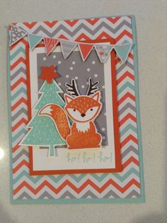 Stampin up foxy friends Christmas