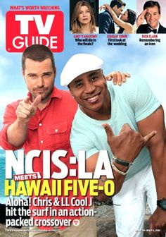 LL Cool J & Chris O'Donnell on the cover of this week's TV Guide Magazine! #NCISLA