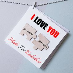 Write Couple Name on I Love You Two Pieces Magnets Card Birthday Msgs, Birthday Wishes Cake, Happy Birthday, Boyfriend Names, Happy Janmashtami, Cake Name, Pics For Dp, Name Pictures, Couture Cakes