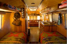 The inside of the Western themed Ralph Lauren Airstream.    Of course, it was totally gutted and completely rebuilt.