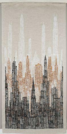 "Textile, ""Skyline"", 1958 Elenhank"
