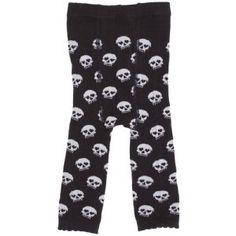 Sourpuss Black & White Skull Baby Leggings available at online kids store A Little Bit of Cheek with worldwide delivery