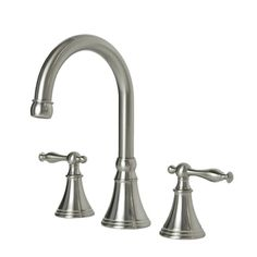@Overstock - Update your bathroom with this transitional high-arc widespread faucet. This faucet features drip-free ceramic disc valves, swivel neck spout, and touch pop-up drain.  http://www.overstock.com/Home-Garden/Brushed-Nickel-Widespread-Bathroom-Faucet/7753712/product.html?CID=214117 $144.99