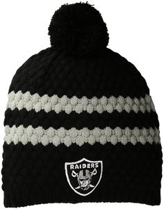 ae453225b Amazon.com   NFL Oakland Raiders Women s Winona OTS Beanie Knit Cap with Pom