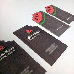 Undergrad Graphic Design Portfolio by Allison Noble, via Behance Simple but eye catching design. Spot Uv Business Cards, Die Cut Business Cards, Business Card Maker, Unique Business Cards, Creative Business, Corporate Design, Business Card Design, Web Design, Logo Design