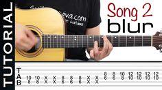 Como tocar Song 2 de BLUR ( fifa 98 ) en guitarra acústica