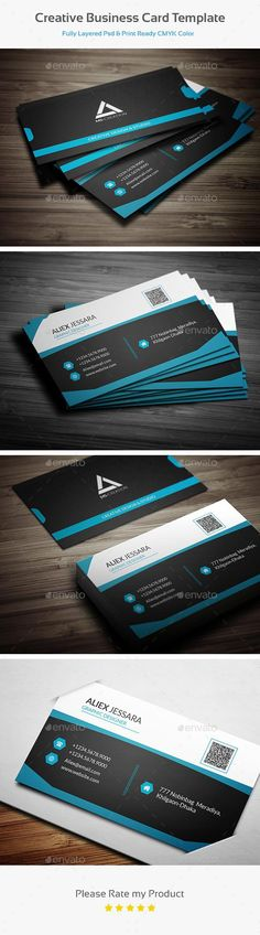 Creative Business Card Template  #template #creative #business