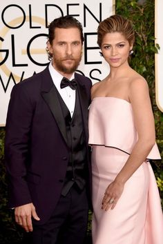 Matthew McConaughey and Camila Alves attend the 72nd Annual Golden Globe Awards at The Beverly Hilton Hotel on Jan. 11, 2015 in Beverly Hills, Calif.