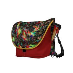 """Atomic Paisley messenger bag by Valxart.com messenger bag by Valxart.com $141.70 Water resistant, extra durable (machine-washable). Large main compartment and 2 front pockets. Form fitted to your body. Quick-adjust cam shoulder strap. Holds a 15"""" laptop (w/optional sleeve). Made with a sustainability focus in San Francisco, CA. Dimensions 12"""" H x 21"""" W x 9"""" D."""
