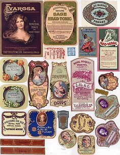 Great selection of fine vintage labels (orginal link broken but can be copied from pinterest) | Source: Unknown