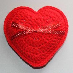Heart Cushion, Cushions, Crochet, Red, Products, Chrochet, Cushion, Crocheting, Pillows