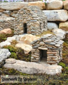 Stonework by Stephens -- constructed dry-stack style with reinforced concrete these are durable and weather hardy. Can be used in terraruims, aquariums, gardens -- large and miniature.