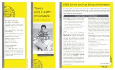 Taxes and health insurance : a guide for Oregonians, by the Oregon Insurance Division