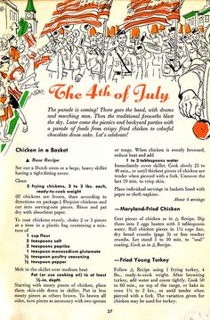 4th of July, The Holiday Cookbook, 1955