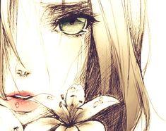 Imagen de anime, flowers, and sad