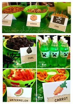 minecraft food Minecraft Party Ideas