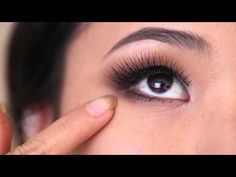 How to Apply False Lashes in 90 seconds! - YouTube