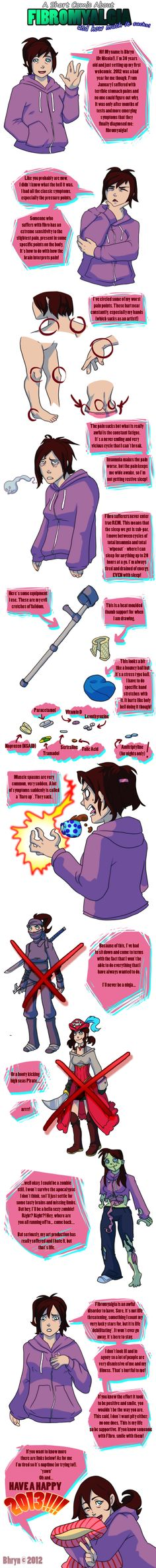 All About Fibromyalgia - An Invisible Disease by Bhryn.deviantart.com on @deviantART