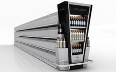 <strong>Esteco - Altimus.</strong> - Exhibidor puntera. Drink Display, Pos Display, Display Design, Display Shelves, Store Design, Pos Design, Retail Design, Supermarket Design, Retail Fixtures