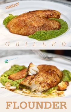 Great Grilled Flounder This is an excellent recipe for grilling flounder. The cajan seasoning Healthy Grilling, Grilling Recipes, Seafood Recipes, Dinner Recipes, Cooking Recipes, Healthy Recipes, Fun Recipes, Grilled Fish Recipes, Grilled Seafood