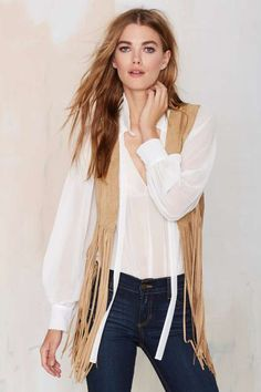 541ea2e2d63471 Let s Ride Crop Fringe Vest Fall Vest