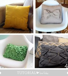Awesome pillow tutorials