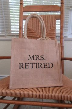 Mrs. Retired Tote bag Ms. Retired gift by KelleysCollections