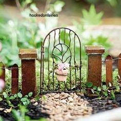 miniature gardening: Miniature Vine Gate with Pot for Your Minature Fairy Gnome Garden in Outdoor   eBay