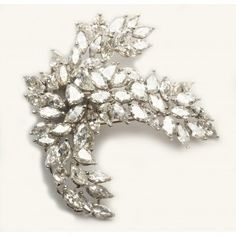 Platinum And Diamond Brooch 20.00 Carats