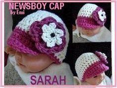 Newborn Newsboy Cap | AllFreeCrochet.com#Repin By:Pinterest++ for iPad#