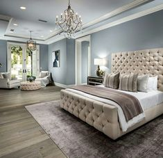 36 Cozy Blue Master Bedroom Design Ideas 19 - Home Design Inspiration Blue Master Bedroom, Master Bedroom Design, Dream Bedroom, Home Decor Bedroom, Modern Bedroom, Bedroom Ideas, Trendy Bedroom, Master Bedroom Color Ideas, Summer Bedroom