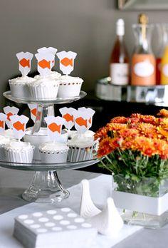 Orange and Grey Goldfish Baby Shower   Baby Lifestyles